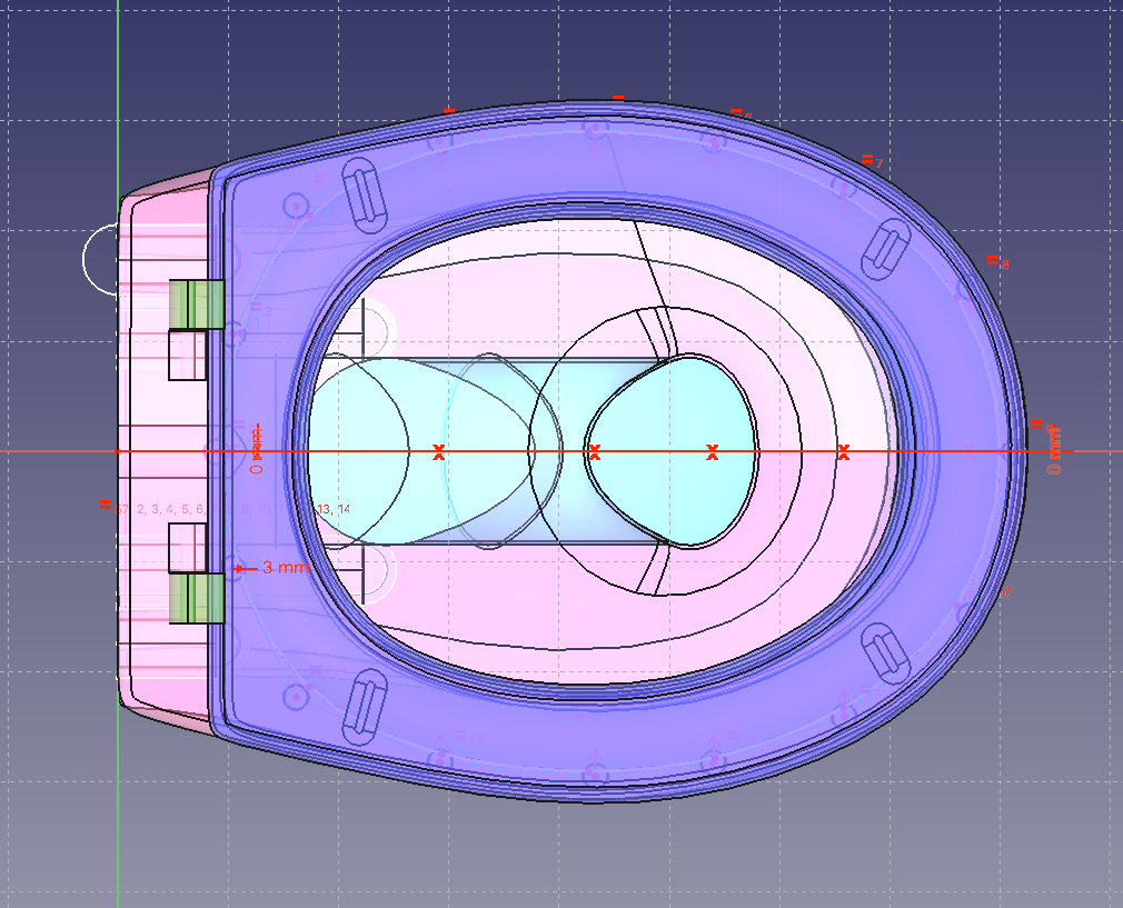 FreeCad Screenshot des Modells