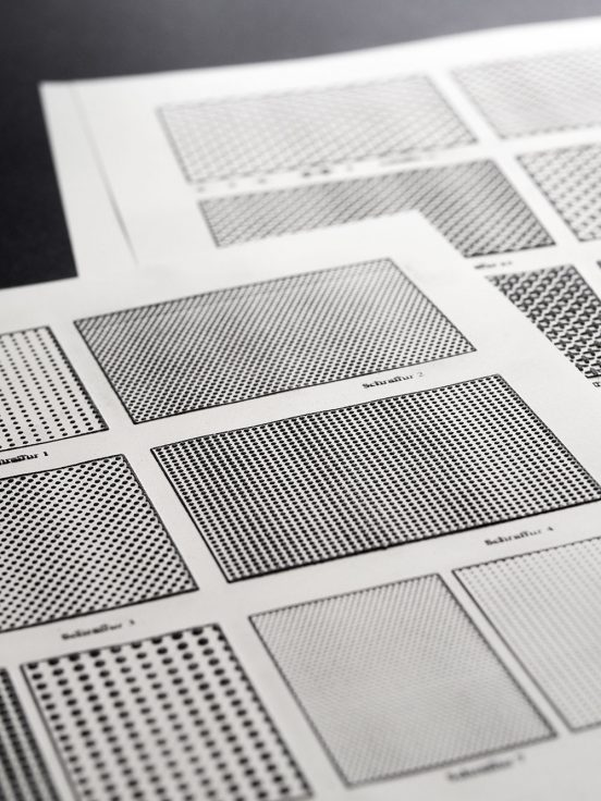 Pages of swell paper with different surface patterns